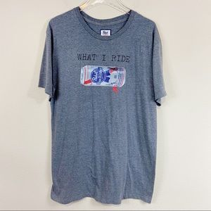 Pabst X O'NEILL | What I Ride Graphic T-shirt Sz L